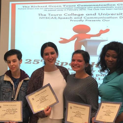 Students at NYSCAS debated a wide range of issues during the 25th Annual Speech Contest.