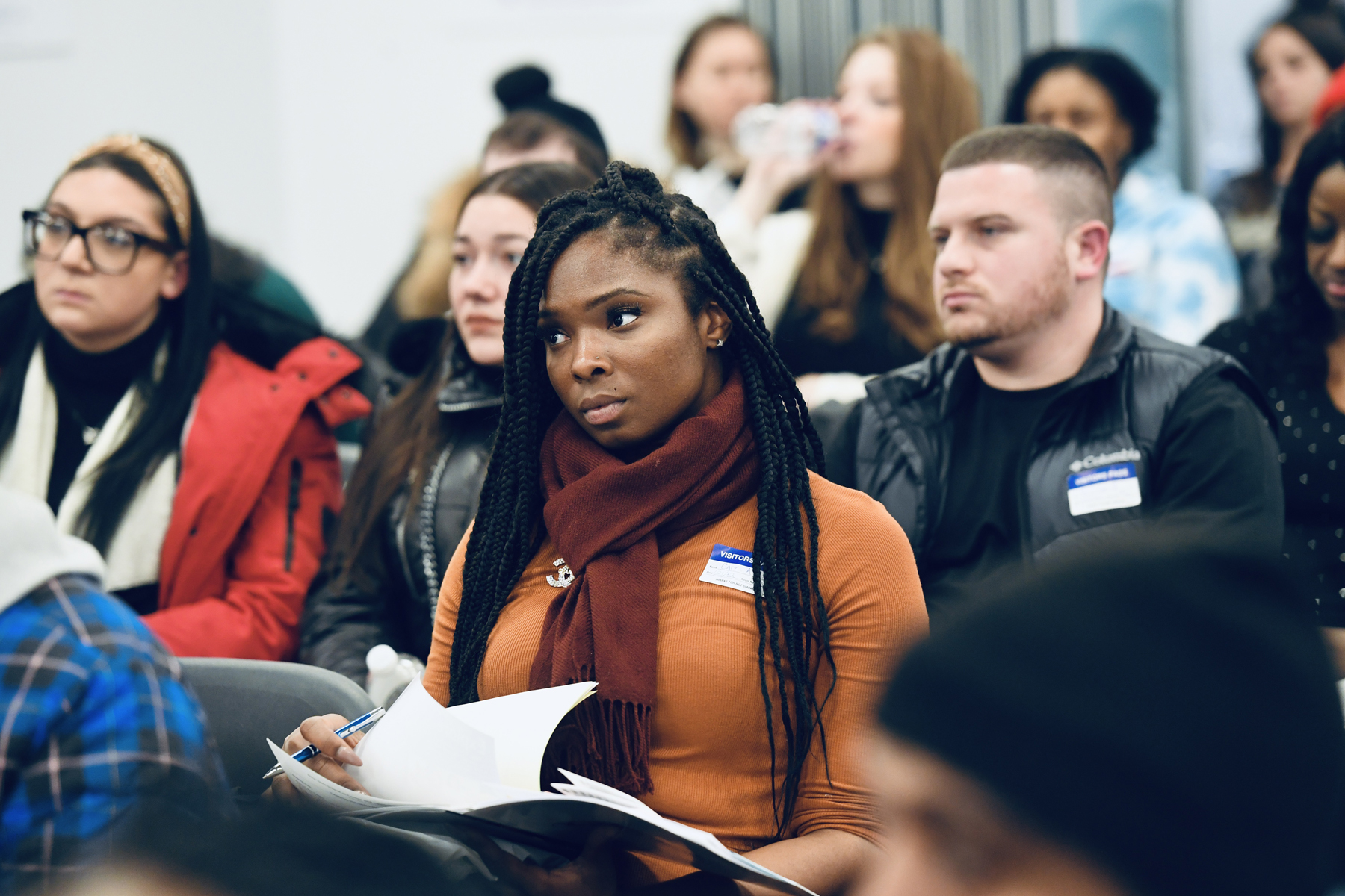 Focusing on the future: At the recent orientation for new NYSCAS students, applicants from across the city learned valuable information and began friendships that would last their academic careers and beyond.